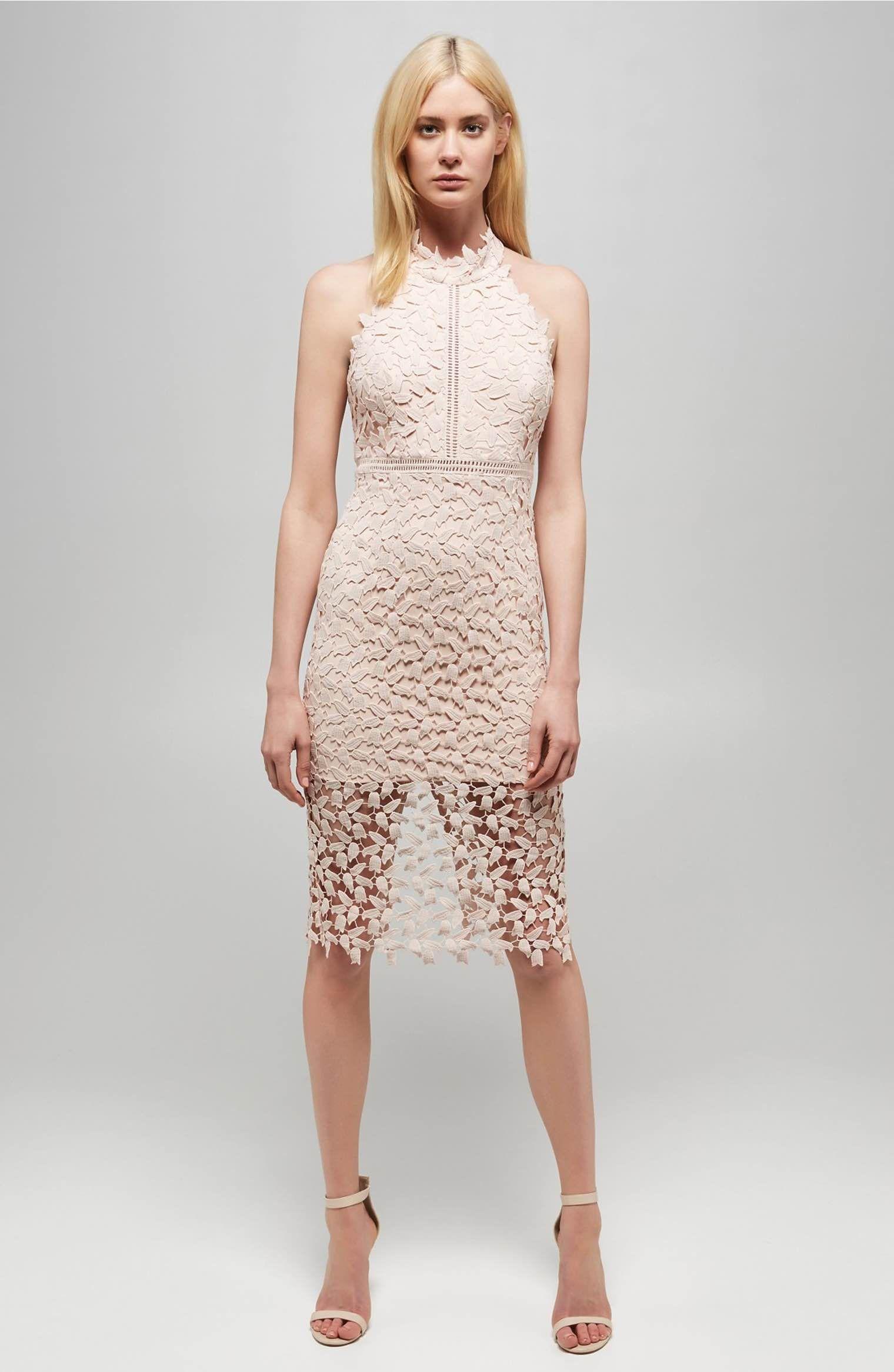 Main Image - Bardot 'Gemma' Halter Lace Sheath Dress