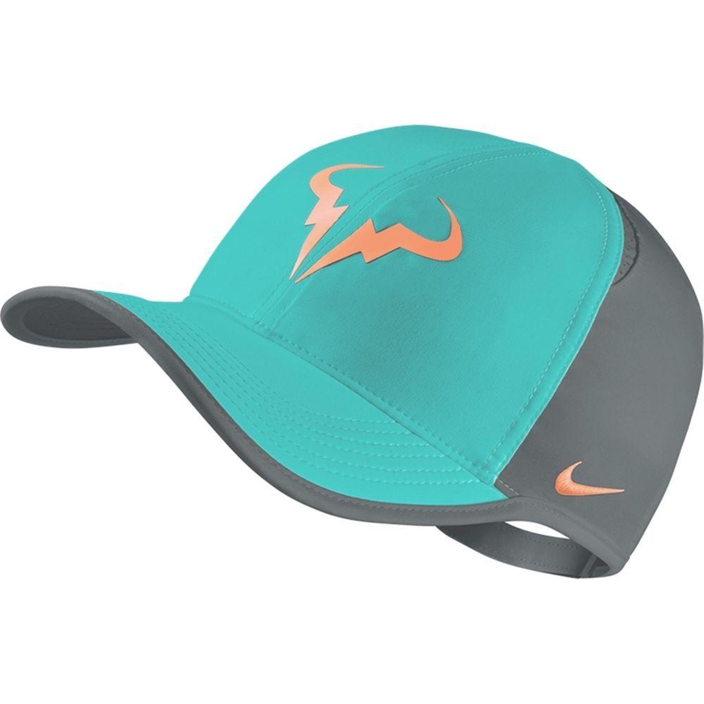 8ea7164aa34c6 Nike Tennis Rafa Nadal Feather Light Dri Fit Adjustable Cap 715146 466