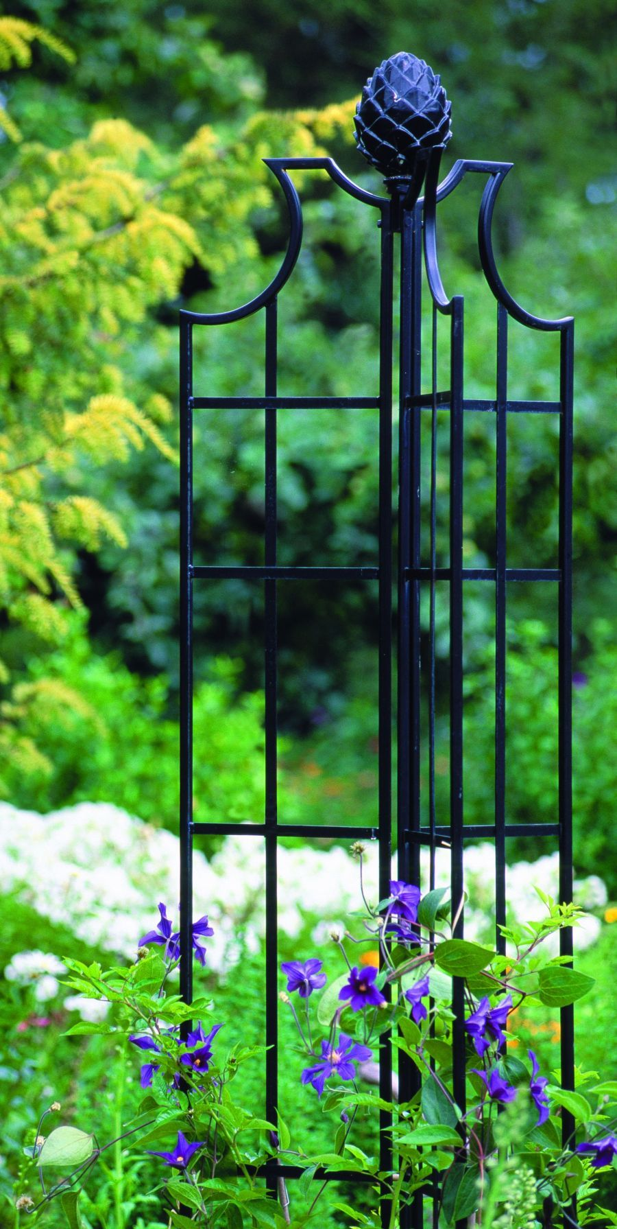 Garden Obelisk great black iron. Garden arbor, Garden