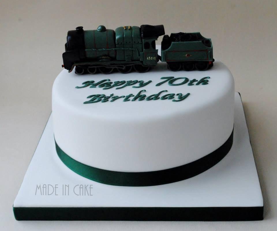 Steam Train 70th Birthday Cake Cakes For Men