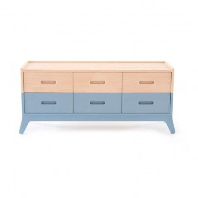 Nobodinoz 6-drawer Chest of Drawers - Blue-listing