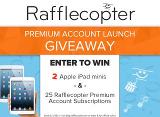 Rafflecopter Premium Version Launch Giveaway 2 Appl