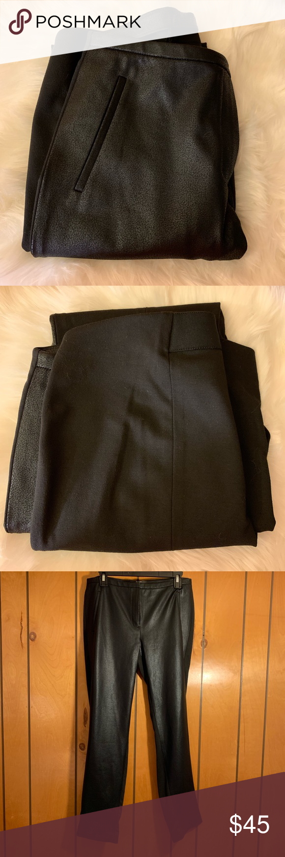 Tahari faux leather pants Excellent preowned condition in