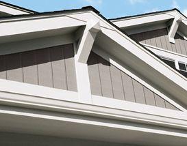 Gable End Detail House Roof Design Siding Trim Vertical Siding Exterior