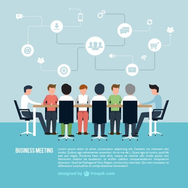 business meeting infographic vector
