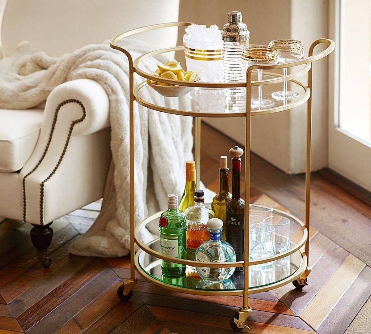 http://www.potterybarn.com.au/tristan-metal-glass-bar-cart | Home ...