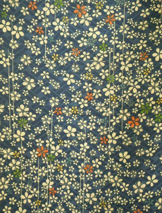 Vintage Japanese fine rinzu silk kimono fabric: