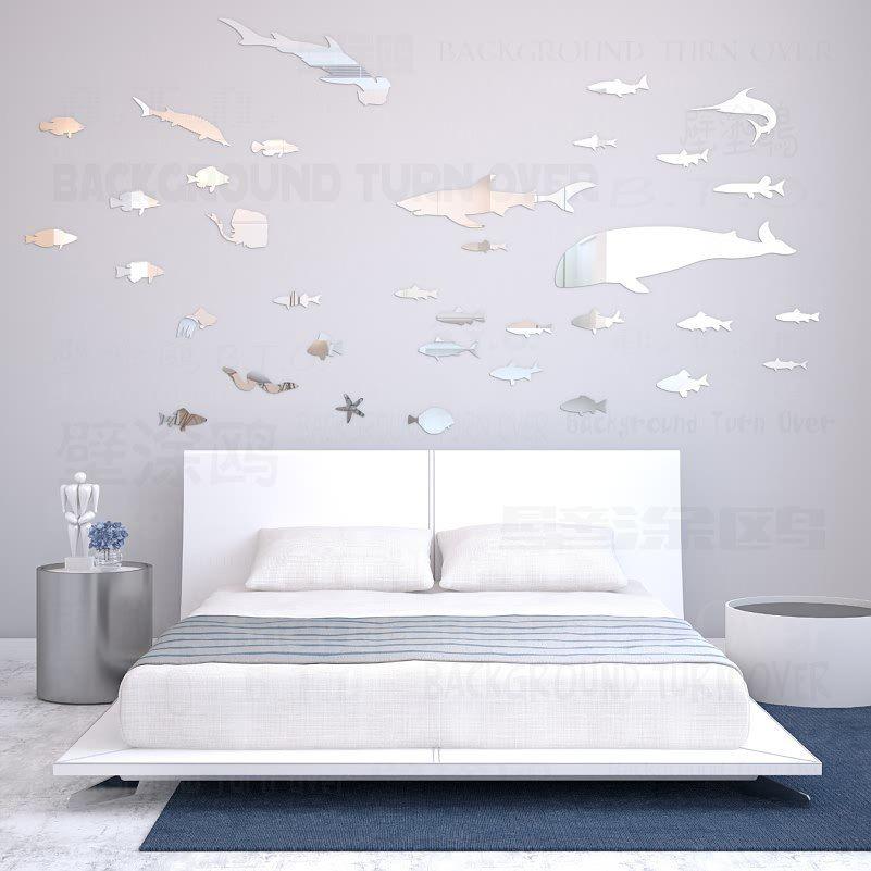 Cheap Pesce Creativa 3d Decorativo Specchio Wall Stickers Soggiorno Camera Da Letto Muro Di P Decorazioni Delle Pareti Fai Da Te Decorazioni Specchi Decorativi