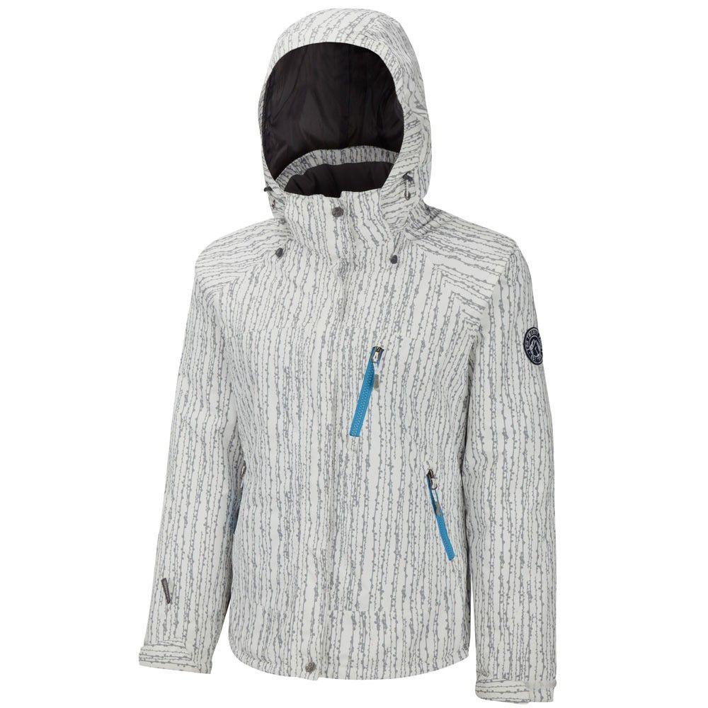 MAMBA LADIES MILATEX #SKI #JACKET WHITE PRINT - Outdoor Clothing ...