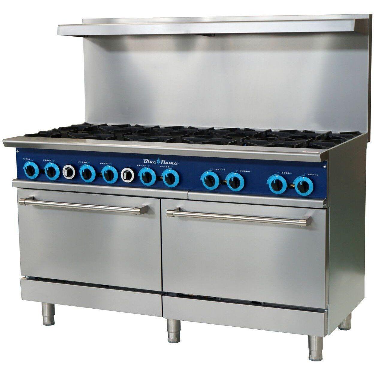 Blue Air Commercial Kitchen 10 Burner Restaurant Range with ...