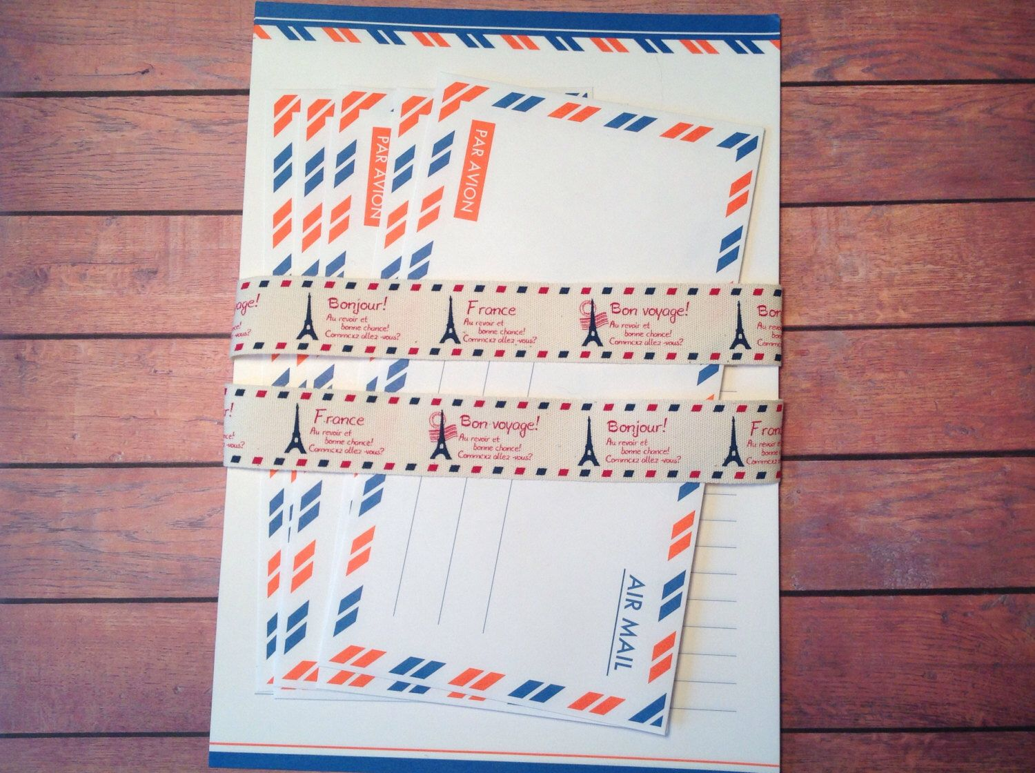 Air mail writing set stationary set writing set with