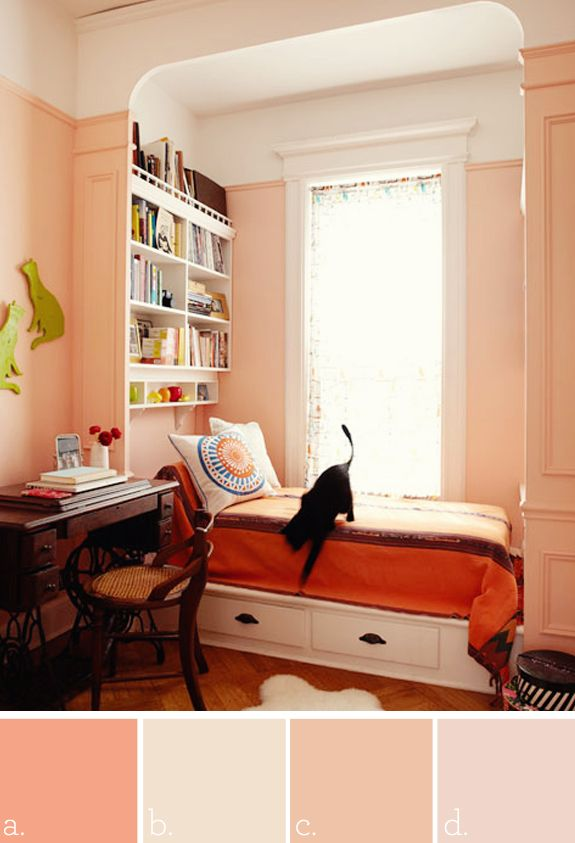 A benjamin moore tucson coral b martha stewart gypsy - Coral paint color for living room ...