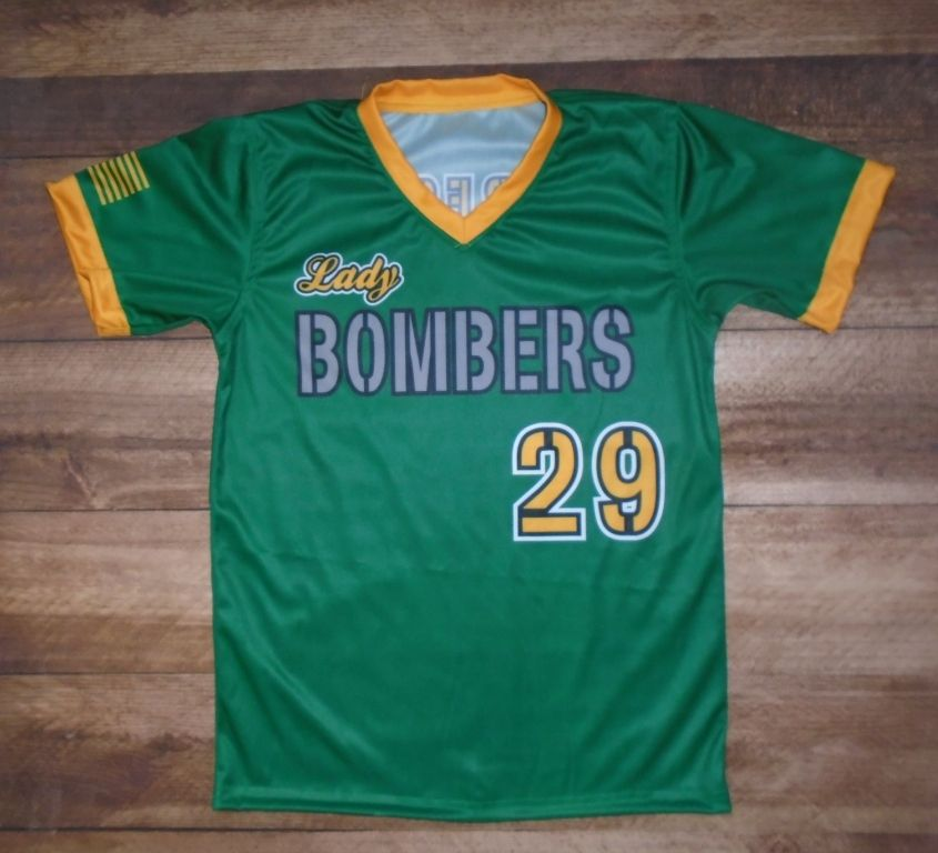 Lady Bombers Softball Custom Jersey Created At Smith Team