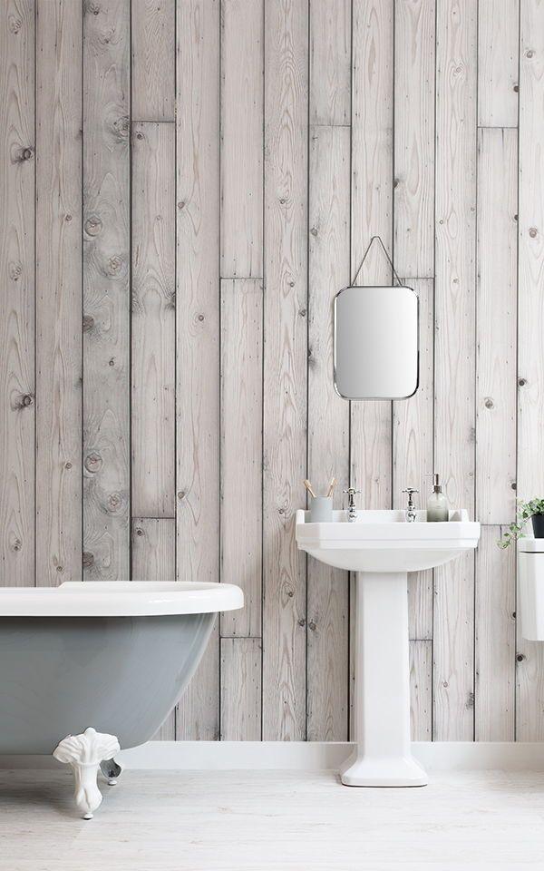 Decorazione Murale Con Legno Argentato Wood Effect Wallpaper Rustic Wallpaper Wood Wallpaper