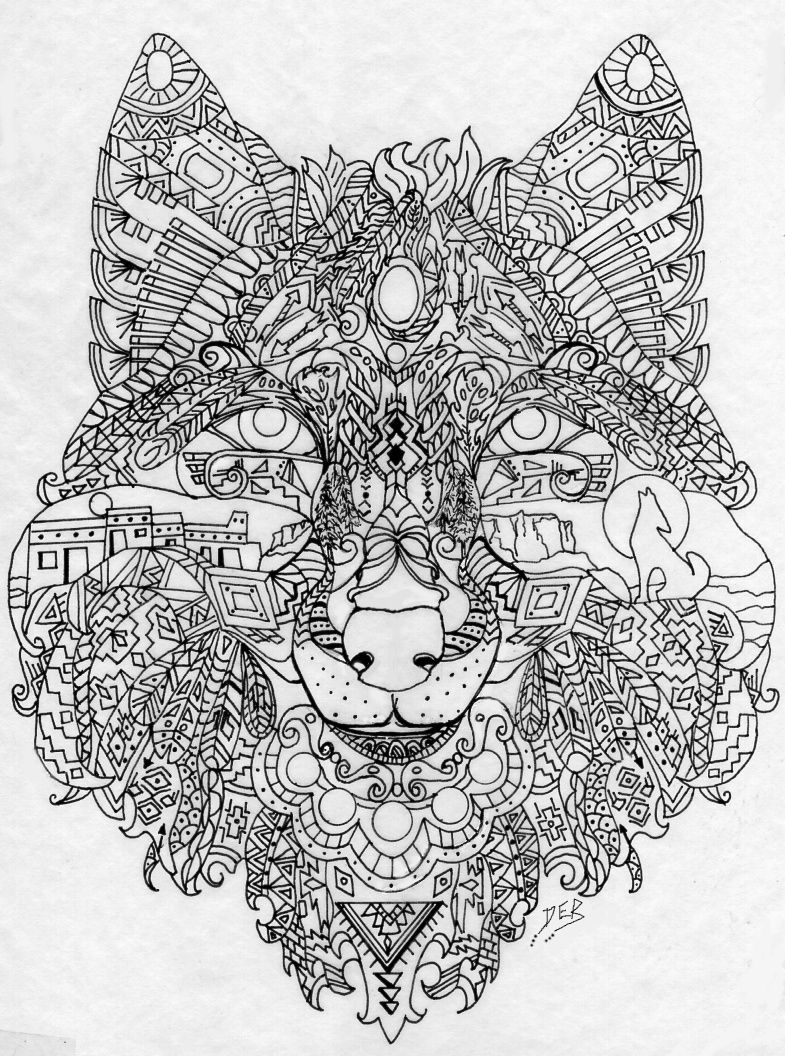 My Own Southwest Wolf Design Deb Coloring Pages Coloring Books Blog Colors