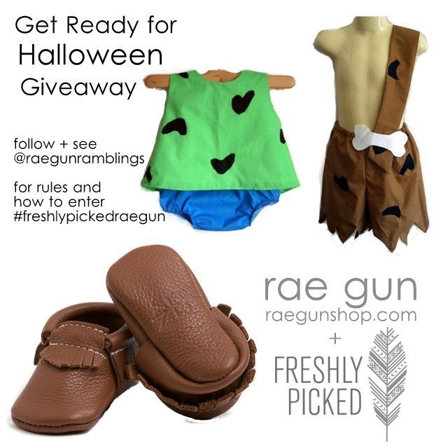 Freshly Picked Moccs and Rae Gun Costume Giveaway #pebblesandbambamcostumes Freshly Picked Moccs and Rae Gun Pebbles and Bam Bam baby costumes #pebblesandbambamcostumes