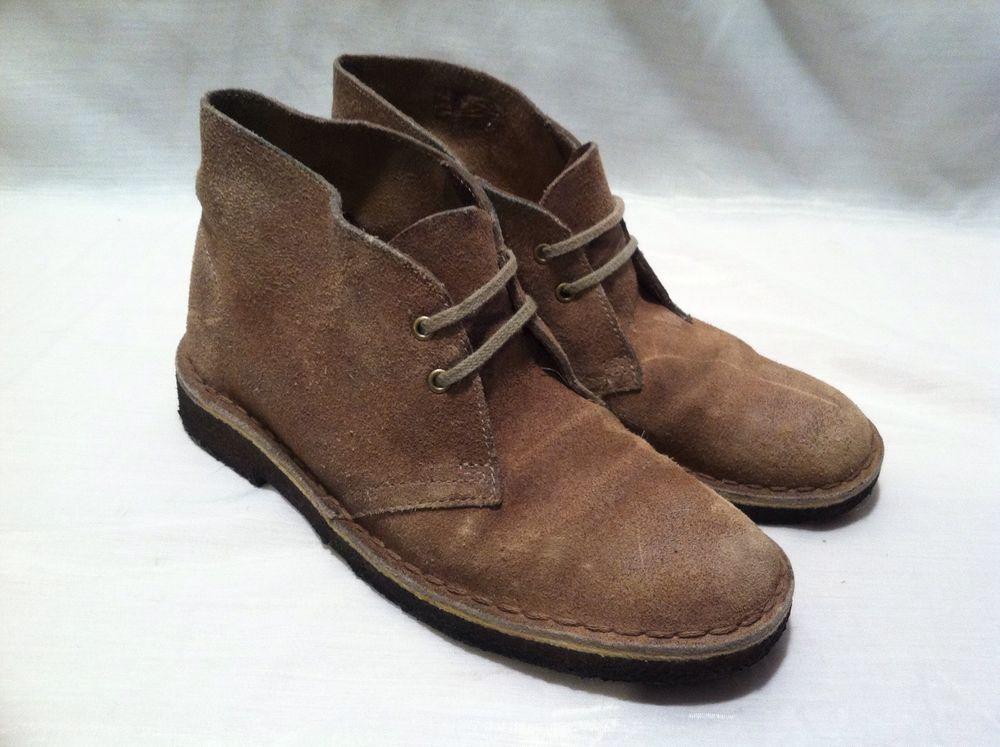 Women's Clarkes leather boots tan size 5