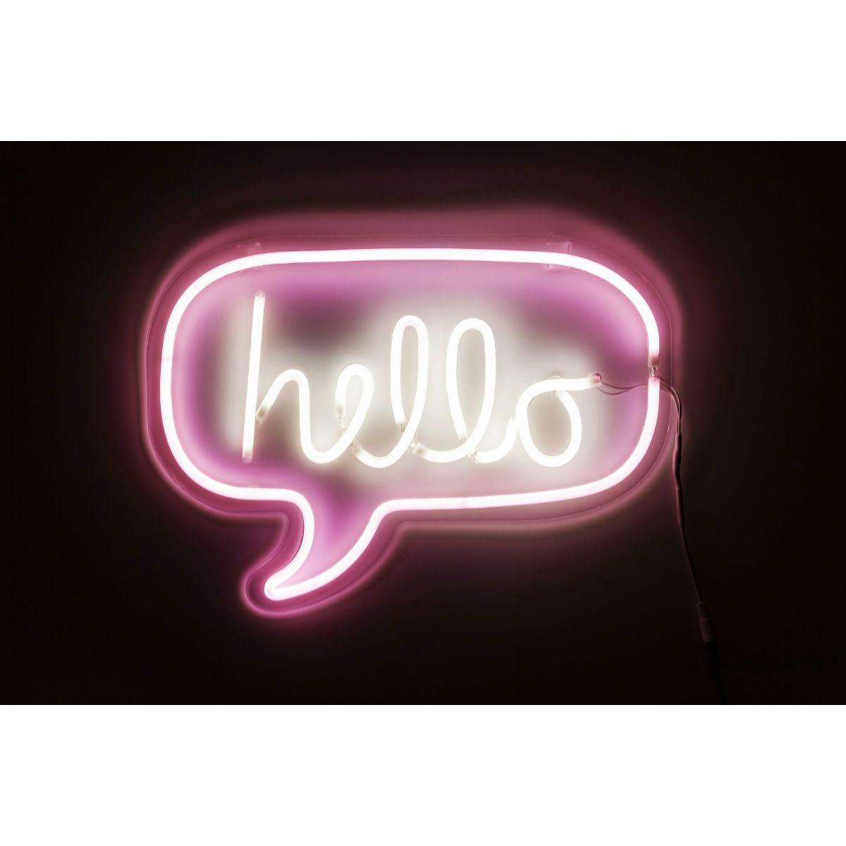 Φωτιστικό Τοίχου Neon Hello Θα σας εντυπωσιάσει το χρώμα