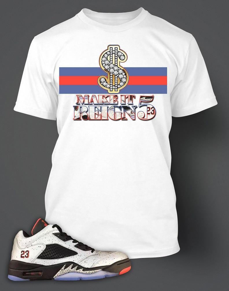 62015e9e1d2f8a T Shirt To Match Retro Air Jordan 5 Low Neymar Shoe