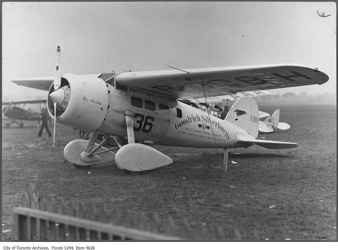 Vintage Airplane Photographs From Toronto
