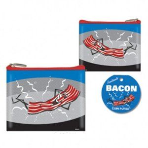 bacon coin purse