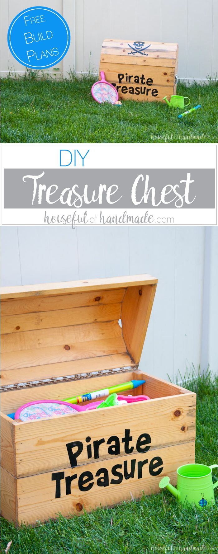 diy treasure chest toy box | hometalk: summer inspiration