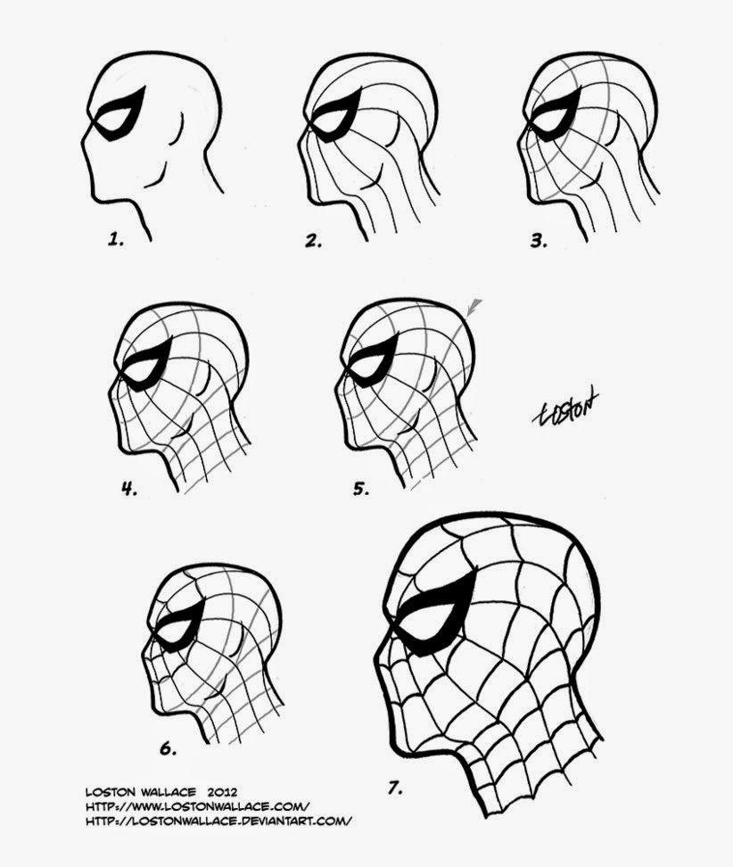 SpiderMan Mask Diy  Fabric No Sewing All Glued  Draw