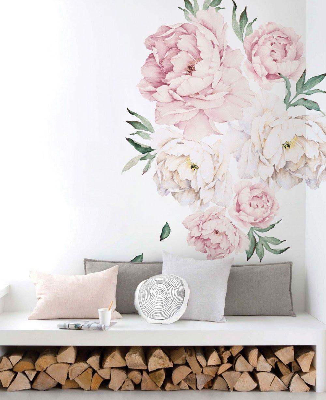 Marvelous Peony Flowers Wall Sticker Baby Room Decoracao De Parede Download Free Architecture Designs Rallybritishbridgeorg
