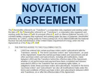 Standard Form Novation Agreement Free To Print In Doc And Pdf Job