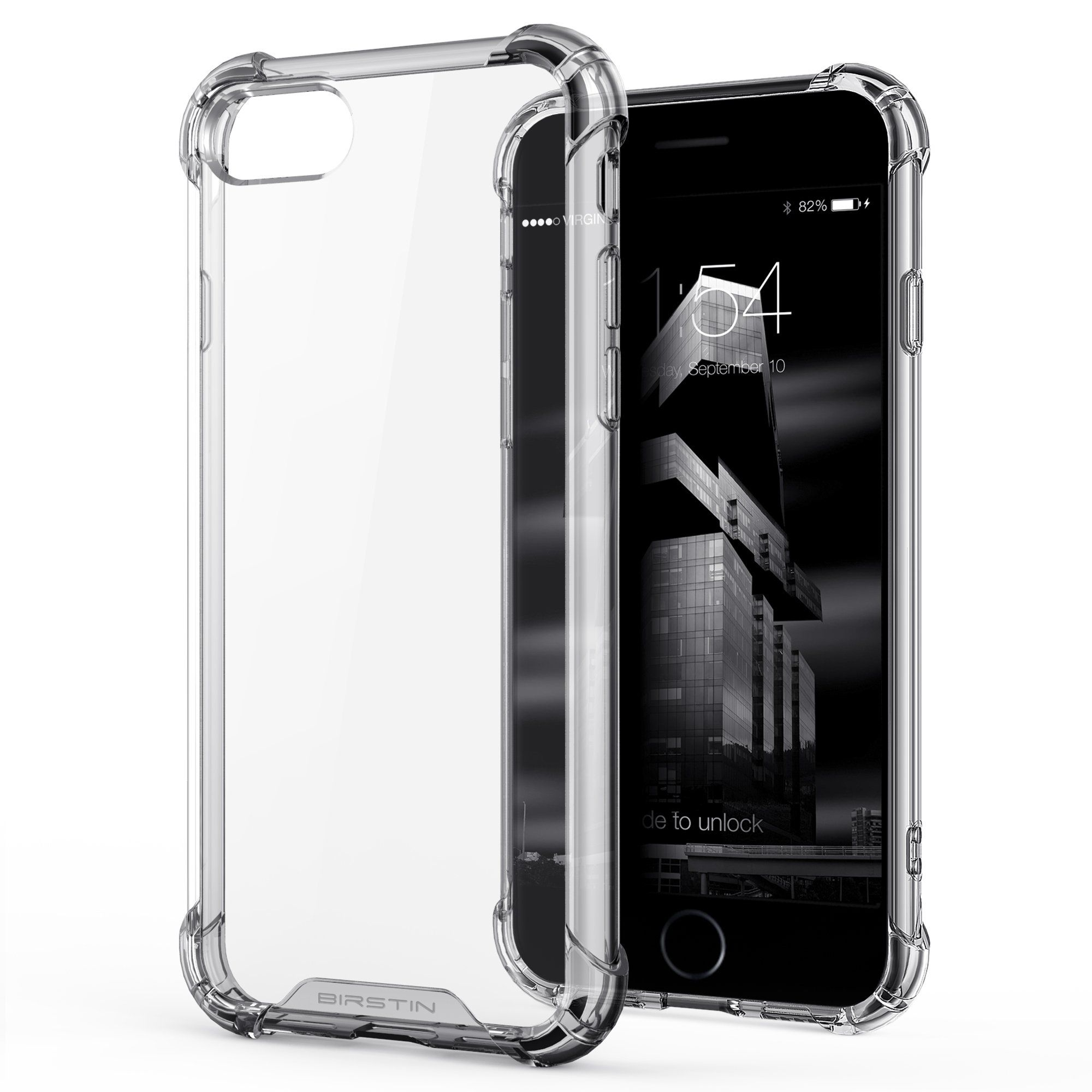 Iphone 7 Case Birstin Clear Case For Iphone 7 With Transparent Hard Plastic Back Plate And Soft Tpu Gel Bumper Clear Specia Clear Cases Iphone Iphone Cases