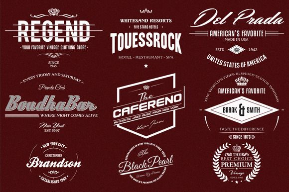 Retro Logo Template Psd | Check Out 9 Retro Logo Badges And Labels By Marvel On Creative