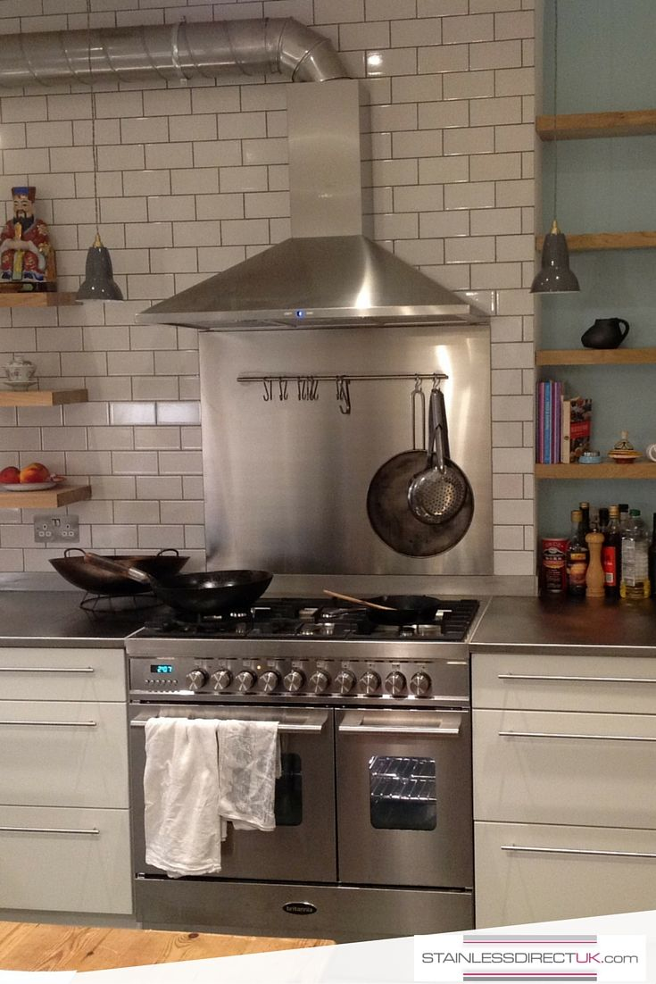 We Love This Kitchen Featuring Our Stainless Steel Worktop