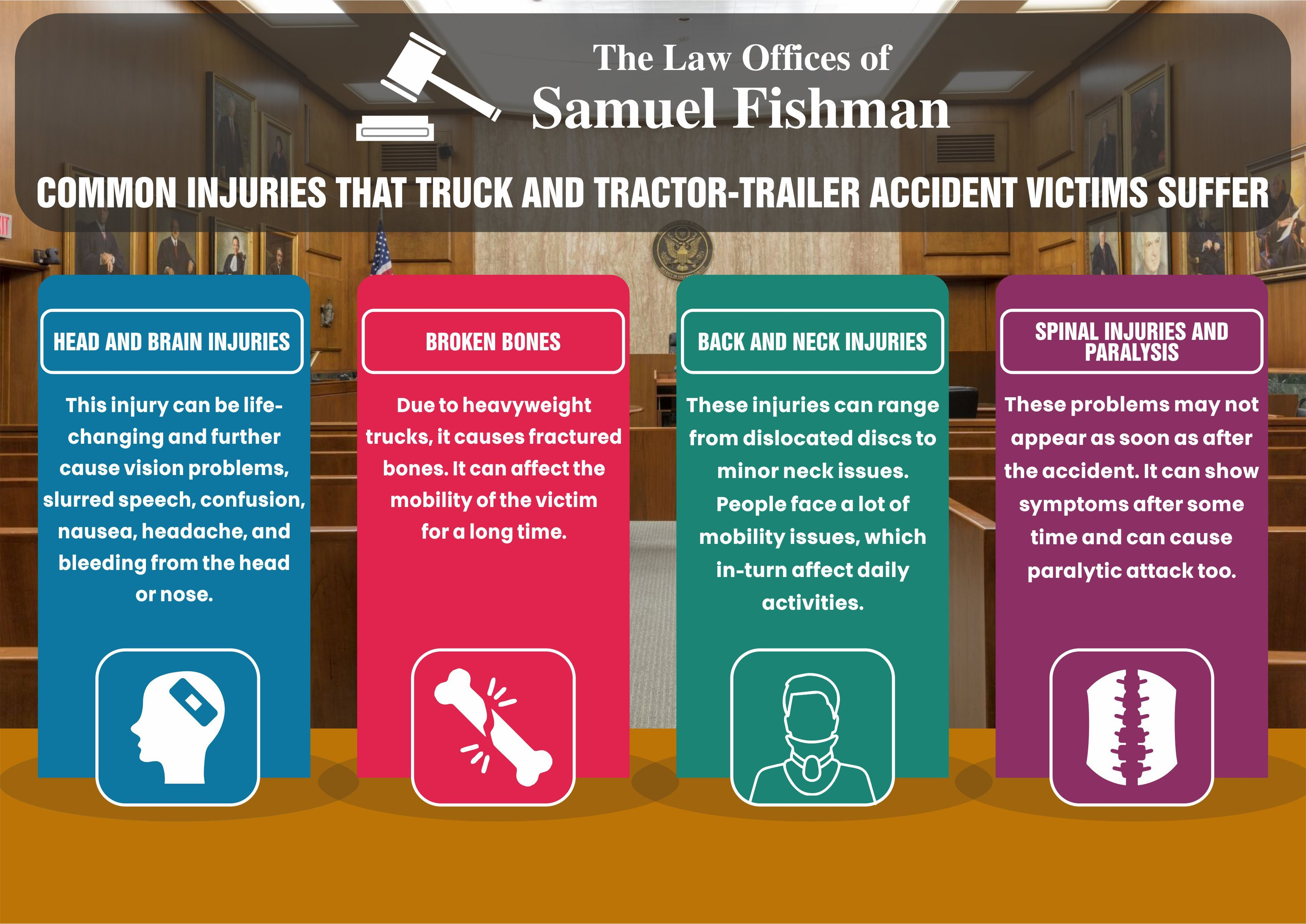 Common Injuries That Trick And Tractor Trailer Accident Victims Suffer In 2020 Tractor Trailer Accident Spinal Injury Neck Injury