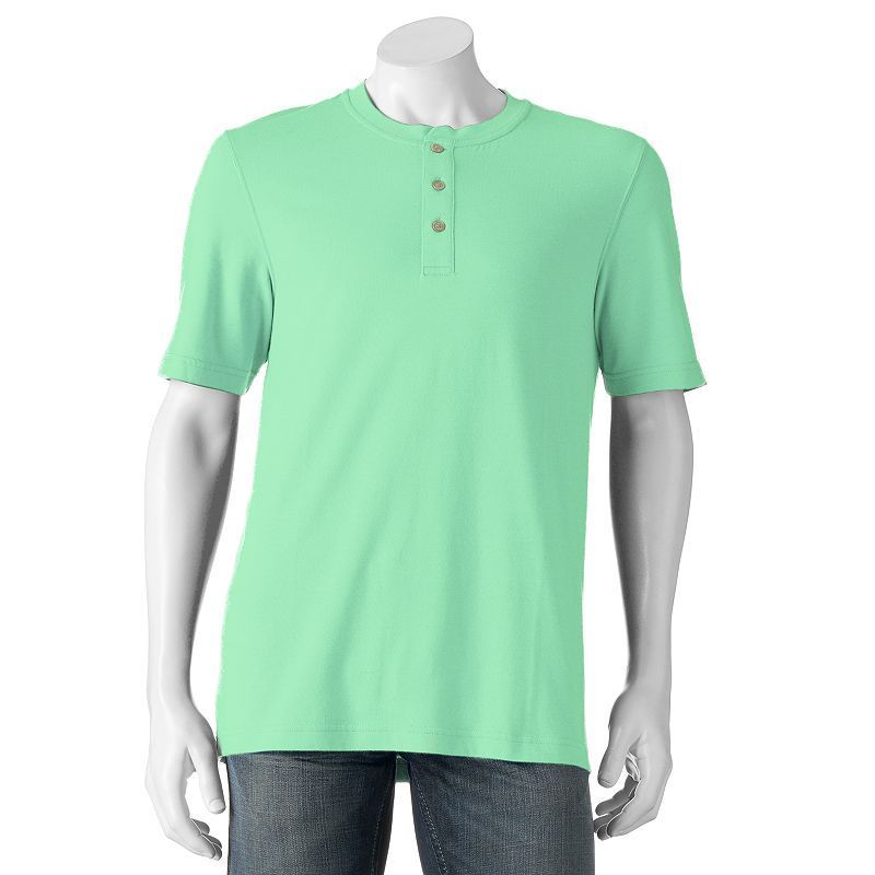 Men's Croft & Barrow® True Comfort Classic-Fit Henley, Size: Medium, Brt Green