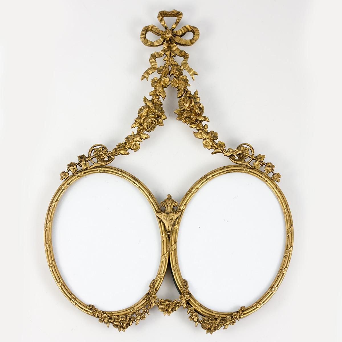 Antique french double oval bow top dore bronze picture frame antique french double oval bow top dore bronze picture frame louis from antiques uncommon jeuxipadfo Image collections