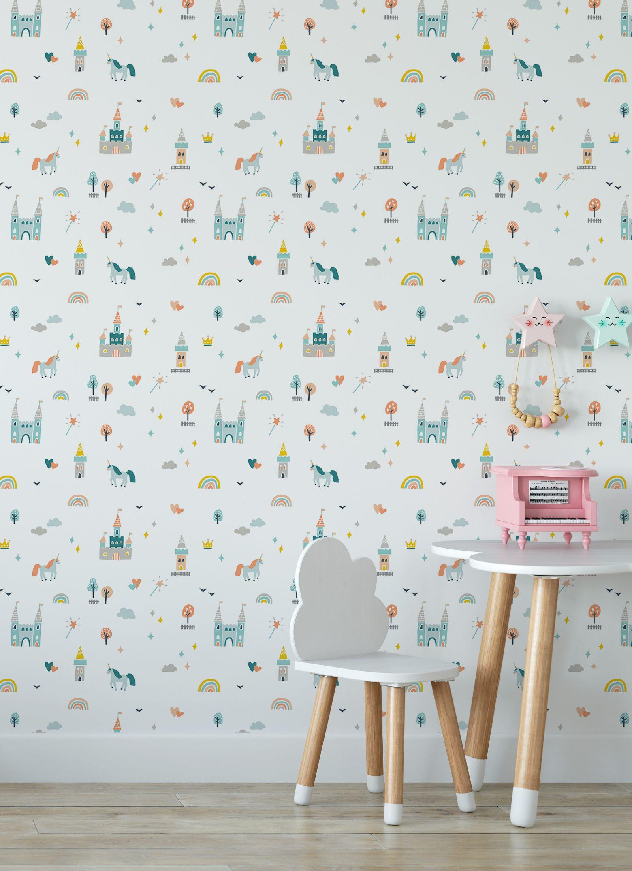 Princess Dreams How to install wallpaper, Peel, stick