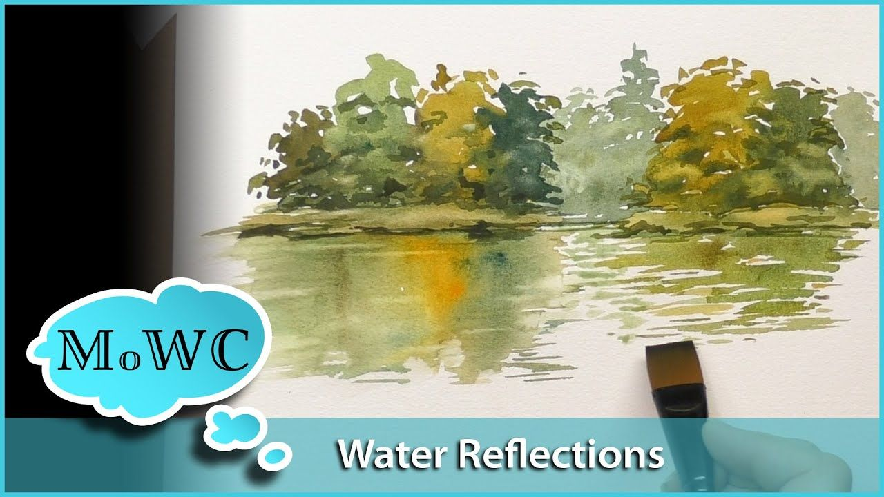 Two Simple Water Reflection Approaches In Watercolor 200k