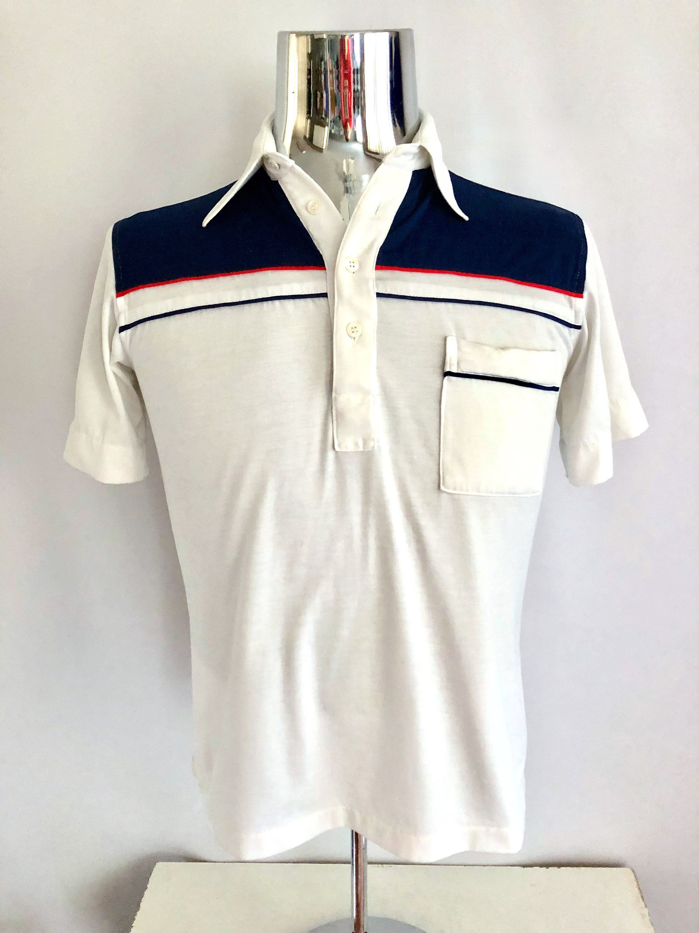 7d0c8740 Vintage Men's 70's Striped, Polo Shirt, Short Sleeve by JC Penney (S) by  Freshandswanky on Etsy