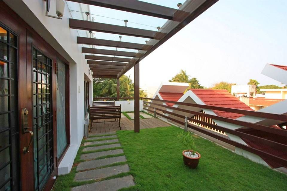 Slope roof given for exterior aesthetic view also serves