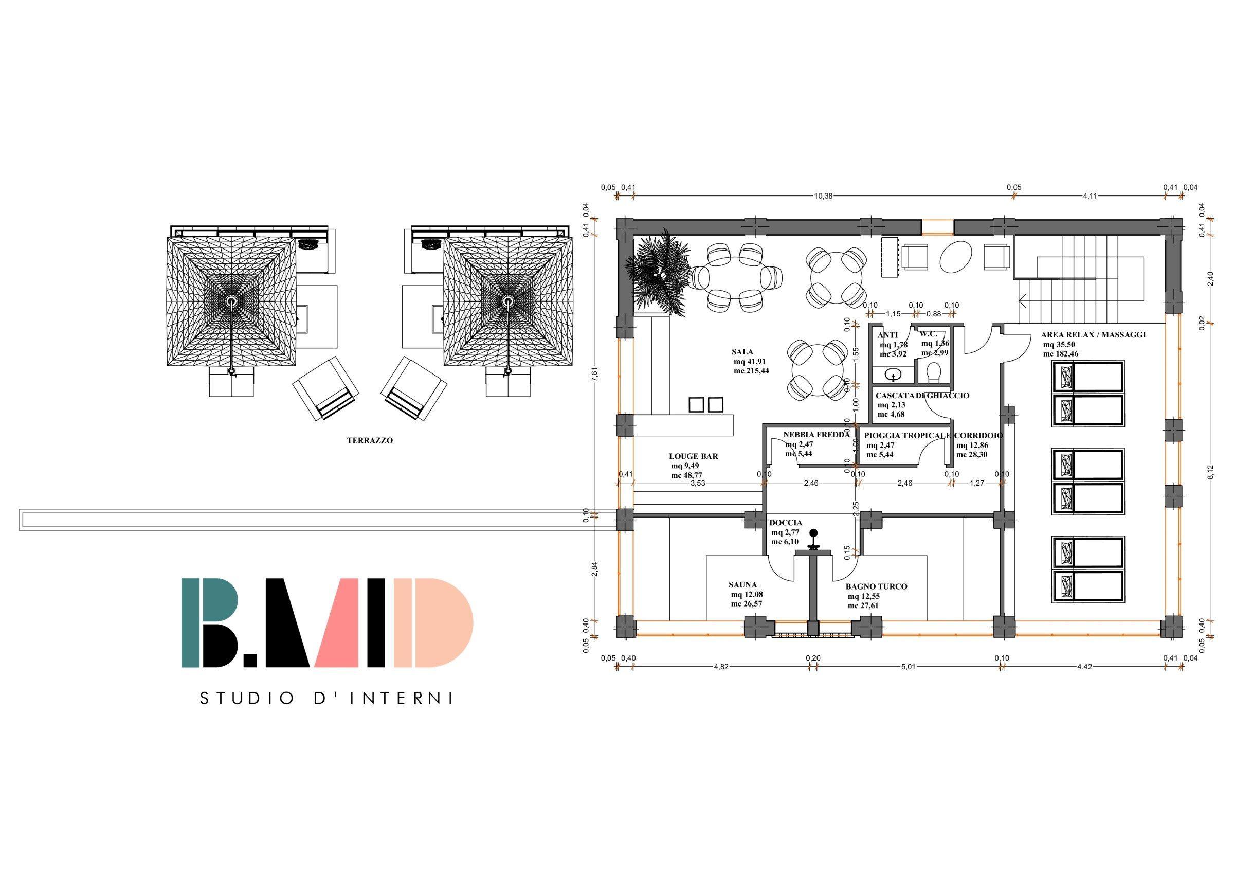 Progetto per un centro benessere SPA – Bettio Marta interior design – arredare casa – idee per mobili, cucina e fai da te – DIY