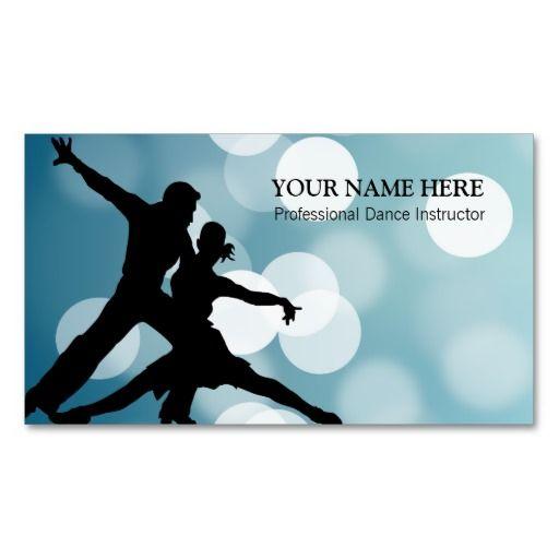 Dance Sport Instructor Business Card Template Zazzle Com Fitness Business Card Sports Instructor Business Card Template