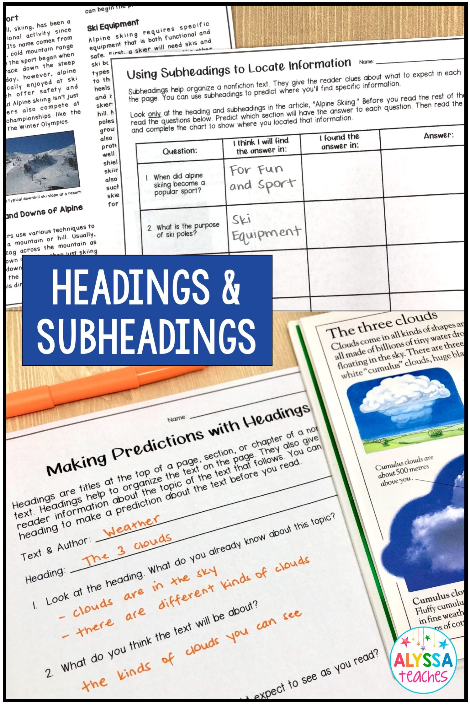 Teaching Students To Use Headings And Subheadings Is An