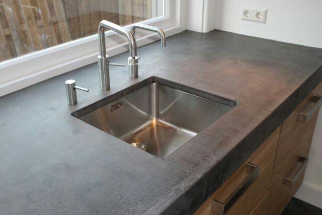 Koakdesign betonblad, verzonken gootsteen Wonen koken - ikea küche kosten