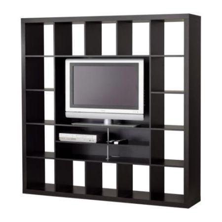 Ikea Expedit Tv Stand Bookshelf Black 100 Le Plateau Tv