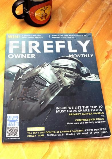 >> Joss Whedon shares a Firefly mag we wish were real.  I finally watched Firefly this year (yes, ten years too late) and this... *sigh* I wish it was real, too.