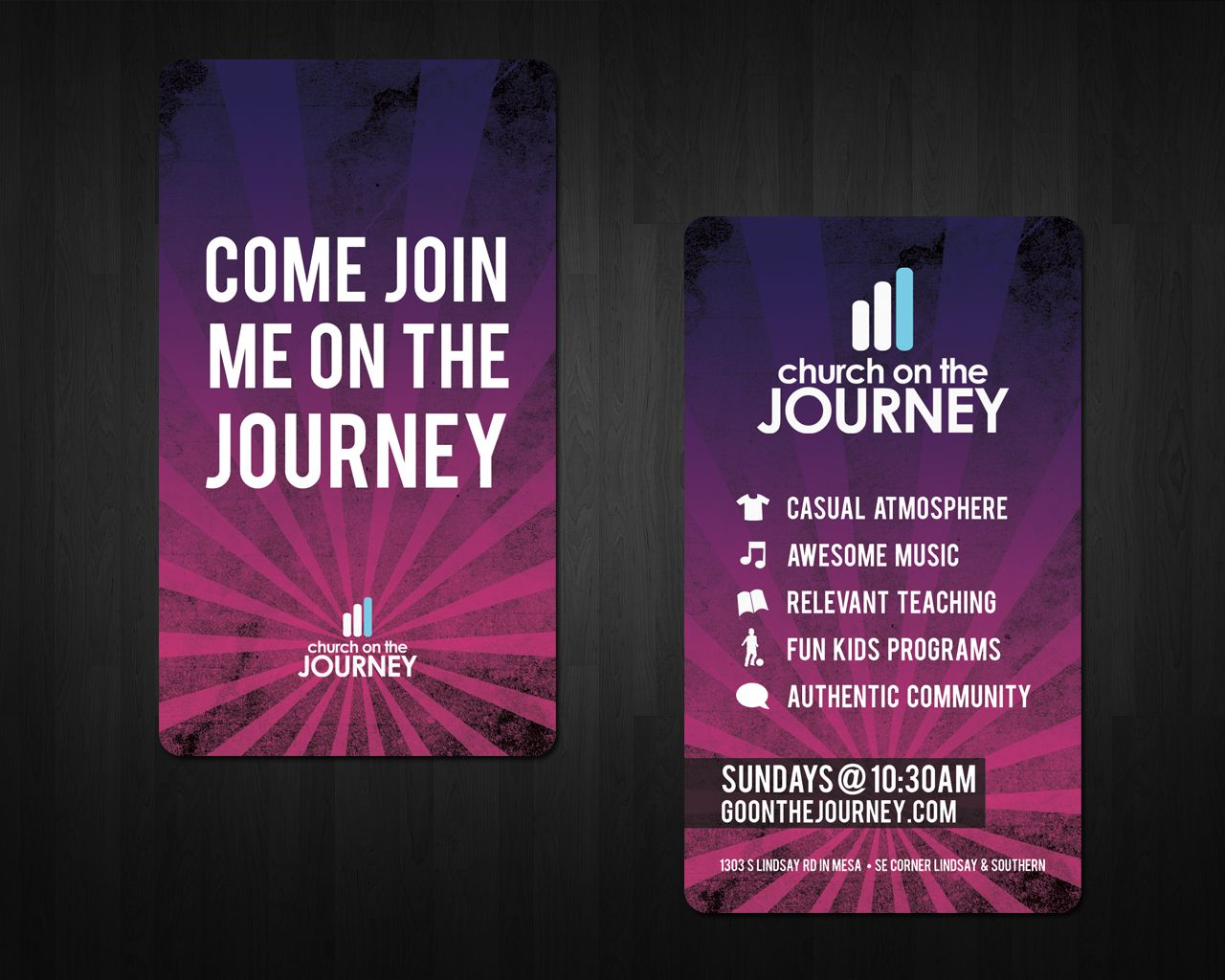 Church on the Journey Invite Cards | Business card size, Business ...