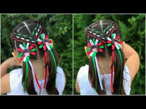 Peinado para niñas con ligas cruzadaspeinados faciles y rapidos de - peinados de nia faciles de hacer