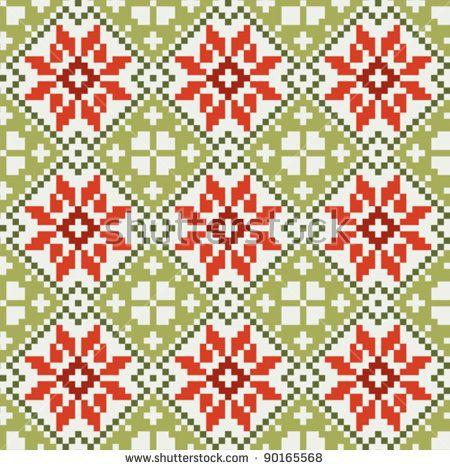 Norwegian fabric #3 | fair isle | Pinterest | Fabrics, Cross ...