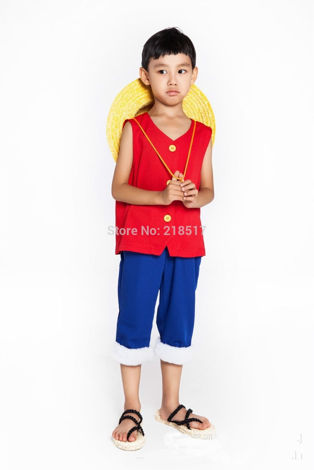 Hat Uniform For Children Kids Halloween Costumes One Piece Cosplay Costumes Monkey D Luffy 1st Cosplay T Shirt Clothes Pants