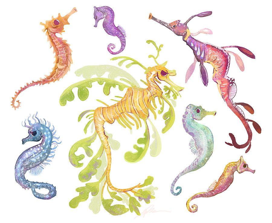 Neigh?  - #030 #animals #art #creatures #Dragon #leafy #my #ocean #sea #seahorse